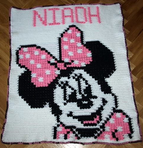 Minnie Mouse Blanket fo Niadh