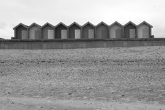 blyth beach huts bw (2) (dslr stephen) Tags: white black beach coast huts blyth