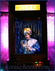 Zoltar Fortune Booth (SDSpotlightEnt) Tags: las vintage booth table living los spring francisco angeles background champagne diego palm fortune entertainment human talent hollywood tribute productions talented teller strolling zoltar voltar