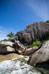 Grand Anse - Le Digue island (dataichi) Tags: ocean travel tourism beach island indian playa granite destination canon5d seychelles plage indien granit sechelles