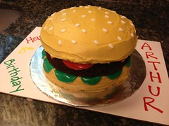 Hamburger Cake by Amanda, RDU NC, www.birthdaycakes4free.com