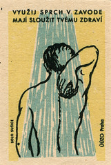 czechoslovakian matchbox label (maraid) Tags: water shower back czech label clean health wash packaging sponge scrub hygiene matchbox czechoslovakia czechoslovakian solosusice