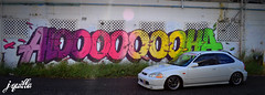Primo's EK Civic Hatch (JQuiLLa808) Tags: honda civic ek hatch jdm slammed stance hellaflush