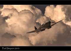 Spitfire (Paul Simpson Photography) Tags: composite clouds vintage airplane flying inflight wings fighter aircraft wwii flight aeroplane spitfire oldphotos raf vintagephotos agile oldlooking vintagelook bbmf photoof sonya77 paulsimpsonphotography
