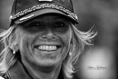 Police (Hkon Kjllmoen, Norway) Tags: bw woman beautiful smile hat norway canon hair uniform bokeh police ii usm bod kvinne 70200is 2013 politikvinne canoneos5dmarkiii 5dmkiii