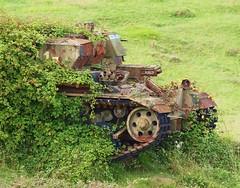 Chieftain recovery tank , Tyneham Tanks (Hammerhead27) Tags: uk trees grass army junk tank military rusty dorset target vehicle fighting wreck retired britisharmy range armour lulworth tynehamtanks
