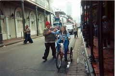 my sister. new orleans 2002 (timp37) Tags: camera new 2002 film bike photo orleans kodak sister away throw
