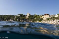 Swimming to village (Fat Daos) Tags: sea underwater croatia dubrovnik adriatic ewamarine