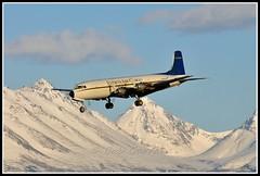 N747CE Everts Air Cargo (Bob Garrard) Tags: force air united navy cargo states douglas anc usaf usn buno everts panc liftmaster dc6a c118a 152689 n747ce n233hp 533290