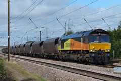 66848 02,09,2013 (Marc60099) Tags: york train diesel yorkshire shed railway loco junction september 2nd coal monday hha skelton eastcoastmainline class66 colas ecml 2013 railfreight 66848 6m86