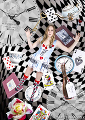 Alice In Wonderland - Down The Rabbit Hole (KristyKreative) Tags: flowers beautiful photoshop diamonds hearts photography book pretty photoshoot quote alice surrealism surreal plate falling card quotes font clubs teapot plates surrealist mad teacup wonderland clocks madhatter edit spades playingcards aliceinwonderland hatter fallingdown in drinkme downtherabbithole filmquote bookquote aliceinwonderlandphotoshoot alicekingsly kristyfricker aliceinwonderlandfilm kristykreative aliceinwonderlandfont checkbackground