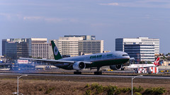 EVA Air - B-16709 (InSapphoWeTrust) Tags: california usa losangeles eva br unitedstates unitedstatesofamerica northamerica lax 777  evaair boeing777 losangelesinternationalairport evaairways klax 77w boeing777300er evergreengroup b16709