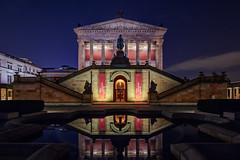 Alte Nationalgalerie (Alexander Rentsch) Tags: city sky urban berlin history classic water colors architecture clouds germany deutschland lights wasser colours himmel wolken wideangle symmetry architektur mitte spiegelung utopia lichter farben museumsinsel geschichte mirroring altenationalgalerie tiltshift symmetrie klassisch canoneos5dmarkiii canontse17mmf4l