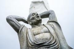 Feel Good Buddha    (francisling) Tags: mountain face zeiss 35mm t temple funny good buddha sony feel taiwan buddhism cybershot    keelung  sonnar    rx1  dscrx1