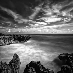 untitled-4 (ckalm) Tags: ocean longexposure sea blackandwhite beach rocks surf moody slow florida dramatic stuart atlantic filter nd shutter stoneface sigma1020 hobesound d7000 16stops