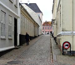 No Trucks! (Jaedde & Sis) Tags: viborg cobblestone alley street sign friendlychallengessweep friendlychallengewinner storybookwinner challengefactorywinner thechallengefactory gamewinner