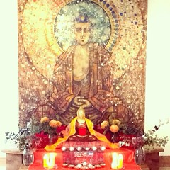 Beautiful shrine made by Amaladevi for Bristol urban retreat.