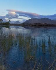 Stac Pollaidh and Cul Mor at dawn (dscott14) Tags: morning winter mountain mountains sunrise landscape dawn scotland freezing loch sutherland stacpollaidh assynt culmor dromannan