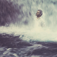 Acceptance [11/52] (Nico Nordström) Tags: ocean portrait people white lake man male fall texture love boyfriend water shirt photoshop portraits austin project that lens person photography 50mm prime photo waterfall nikon san long exposure university texas with state photoshopped under textures portraiture depression week approved flowing concept conceptual weeks nordstrom accept nico marcos pouring textured texan 52 lenses acceptance fiance dealing decker deals d300s derdeyn
