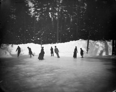 Lord Landsdowne and friends skating at Rideau Hall / Lord Landsowne et ses amis patinent  Rideau Hall (BiblioArchives / LibraryArchives) Tags: winter ontario canada sports hiver ottawa skating lac leisure olympics bac rideauhall olympiques loisir libraryandarchivescanada mars1884 bibliothqueetarchivescanada williamjamestopley lordlandsdowne march1884 patinent