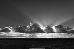 behind_the_clouds (b/w) (robvanderwaal) Tags: sky bw cloud netherlands clouds skyscape landscape blackwhite ray zwartwit nederland wolken beam rays lucht sunrays polder sunbeam beams sunray sunbeams landschap zw wolk zonnestraal voorne zonnestralen stralen 2013 straal rvdwaal robvanderwaalphotographycom