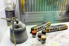 Work in progress (Romar Keijser) Tags: paint ho lint 187 airbrush verf fleischmann syntus modelspoor h0 gunze verweren weatheren