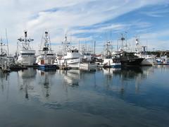 San Diego Fishing Fleet (kitmasterbloke) Tags: california usa reflection boats still fishing harbour seaport