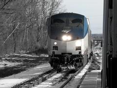 AMTK 158 is a dirty bird. (RunnningWithScalpels) Tags: winter trains amtrak salty kensington ber p42 berlinct springfieldline northeastregional