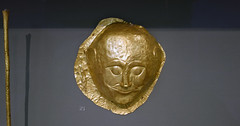 Gold mask from Grave Circle A at Mycenae, Greece