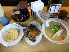 "/ Ramen, Jiaozi and Rice from ""Mannen"" - Umeda, Osaka (Ogiyoshisan) Tags: food japan cuisine japanese rice gourmet ramen  osaka  umeda  jiaozi"