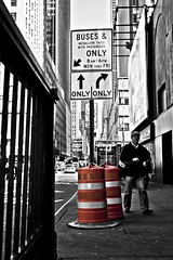 (lameyre) Tags: street nyc white signs ny newyork black blanco sign y negro nuevayork seales seal nys