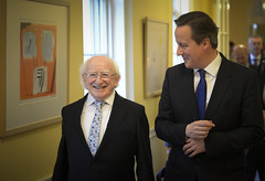 Irish President visits Downing Street (The Prime Minister's Office) Tags: uk ireland london pm primeminister downingstreet no10 davidcameron primeministerdavidcameron presidenthiggins