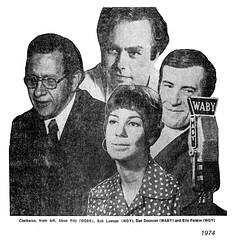 local radio talkers 1974 (albany group archive) Tags: albany ny radio talk show steve fitz wqbk bob lawson wgy dan donovan waby elle pankin oldalbany history