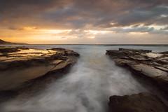 Bulgo Beach channel (David Marriott - Sydney) Tags: longexposure seascape sunrise dawn australia nsw newsouthwales channel otford bulgobeach