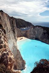 Shipwreck beach (frasse21) Tags: beach nature landscape greece shipwreck zante zakynthos smugglerscove shipwreckbeach navagio navagiobeach