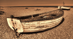 Beached (Andy Gant) Tags: uk sea england bw beach sepia boats boat photo suffolk flickr photos picture lookout seashore canoneos aldeburgh bwphotography beachscene bweffect canoneos550d