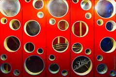 Welcome to bubble land (ericbaygon) Tags: bubble hole trou bulle red rouge bruxelles d750 nikon nikonpassion rond round arrondi mur wall design contemporain art artistique