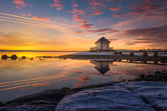Fornebu Sunrise (barenstaden) Tags: sunrise oslo fornebu sky colorful water ocean sea seascape