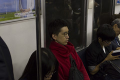 The Struggle (I'm just D.E.O.) Tags: street urban man broken japan train canon subway photography japanese glasses 7d mm 85 narita