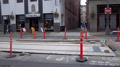 First Hill Streetcar Construction: End of the line