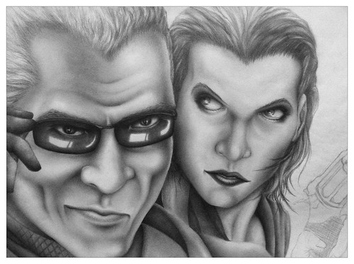 Resident Evil: Alice Abernathy and Albert Wesker