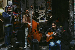 (ohclemence) Tags: newyorkcity travel portrait people music playing newyork men boys beautiful portraits perfect play bass guitar band trumpet melbourne violin laneway lovely instruments doublebass