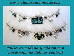 Pulseras horscopo (eiencreaciones) Tags: cristal charms cadena pulseras delicas horoscopo horscopo muyuki