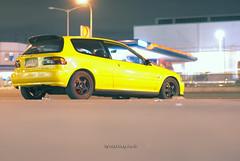 EG Hatch (Xyrus P.) Tags: yellow honda 50mm nikon spoon civic hatchback eg d80