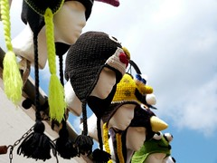 (sigsin) Tags: summer sky festival lumix store hats panasonic heads knitted figures