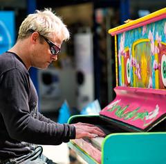 pianoman reflection (fat-freddies-cat  four million views) Tags: street england musician music reflection sunglasses bath piano somerset busker performer