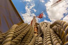 Ka Hae Hawaii (hawaiiansupaman) Tags: ocean sea sky clouds canon hawaii sailing flag maui rope canoe hawaiian sail mast maalaea hokulea hawaiianflag sailingcanoe hawaiiansupaman malamahawaiitour malamahawaii
