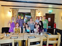 My 21st (Elysia in Wonderland) Tags: birthday friends brown table becca cow lucy ross emily amy 21 group 21st meal pete dalton elysia reece