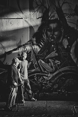 Conversations (Pixelina Photography) Tags: sf sanfrancisco california street blackandwhite usa streetart blancoynegro canon graffiti us blackwhite mural moments unitedstates unitedstatesofamerica strangers streetphotography elderly sanfranciscobayarea bayarea conversation spraypaint sfbayarea graff moment dslr aerosol graffitiartist sfgraffiti colorless westcoast streetsofsanfrancisco aerosolart sanfranciscostreetart spraycanart spraycan greyscale graffitiart sprayart colourless spraypaintcans sanfranciscograffiti waf stolenmoments sfstreetart westcoastgraffiti alostacrew bayareagraffiti californiagraffiti alosta canonrebelt1i pixelina rachelescoto pixelinaphotography