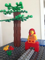 Kids made a Lego minifig of me using Poison Ivy's hair :)